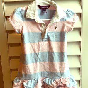 Ralph Lauren pink/blue striped dress 3T